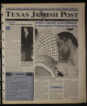 Primary view of object titled 'Texas Jewish Post (Fort Worth, Tex.), Vol. 51, No. 35, Ed. 1 Thursday, August 28, 1997'.