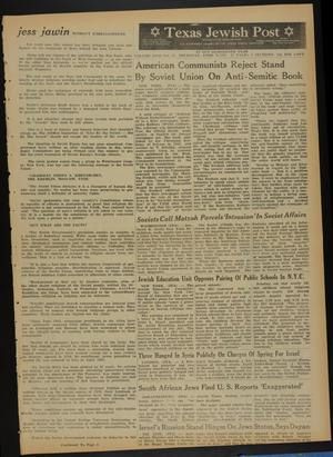 Primary view of object titled 'Texas Jewish Post (Fort Worth, Tex.), Vol. 18, No. 15, Ed. 1 Thursday, April 9, 1964'.
