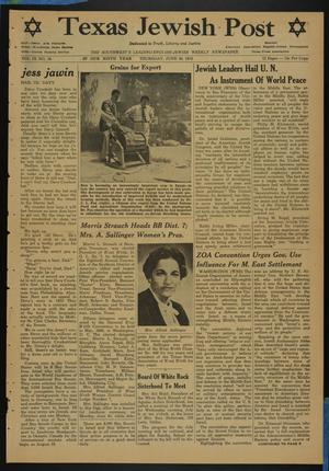 Primary view of object titled 'Texas Jewish Post (Fort Worth, Tex.), Vol. 9, No. 26, Ed. 1 Thursday, June 30, 1955'.