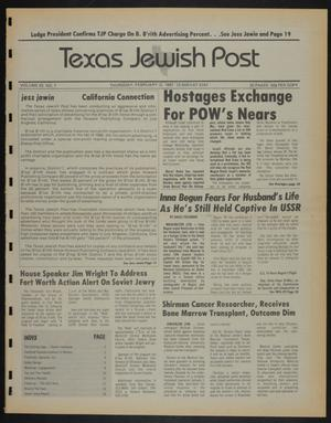 Primary view of object titled 'Texas Jewish Post (Fort Worth, Tex.), Vol. 42, No. 7, Ed. 1 Thursday, February 12, 1987'.