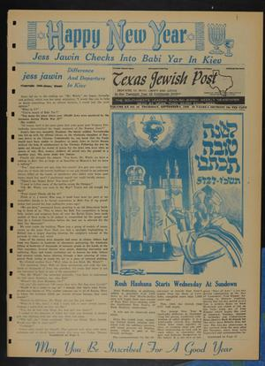 Primary view of object titled 'Texas Jewish Post (Fort Worth, Tex.), Vol. 20, No. 36, Ed. 1 Thursday, September 8, 1966'.