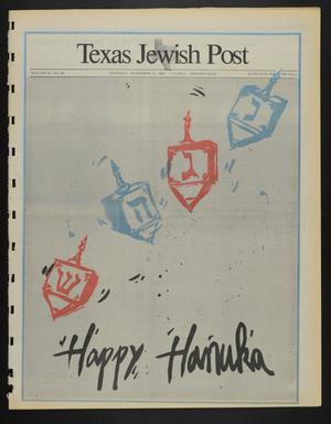 Primary view of object titled 'Texas Jewish Post (Fort Worth, Tex.), Vol. 42, No. 46, Ed. 1 Thursday, November 24, 1988'.