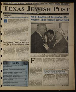 Primary view of object titled 'Texas Jewish Post (Fort Worth, Tex.), Vol. 51, No. 3, Ed. 1 Thursday, January 16, 1997'.
