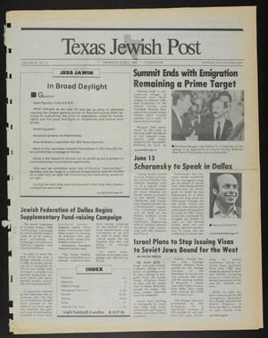 Primary view of object titled 'Texas Jewish Post (Fort Worth, Tex.), Vol. 42, No. 21, Ed. 1 Thursday, June 2, 1988'.
