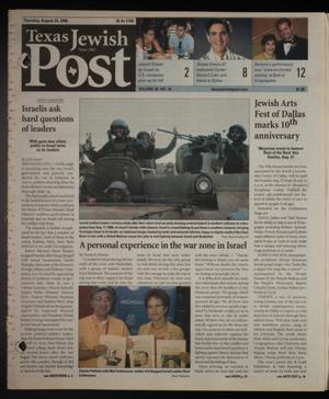 Primary view of object titled 'Texas Jewish Post (Fort Worth, Tex.), Vol. 60, No. 34, Ed. 1 Thursday, August 24, 2006'.