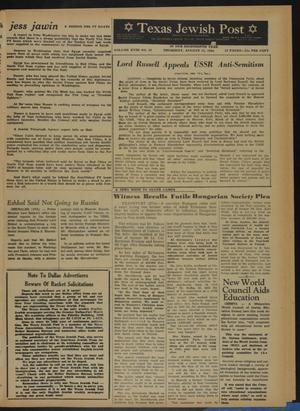 Primary view of object titled 'Texas Jewish Post (Fort Worth, Tex.), Vol. 18, No. 32, Ed. 1 Thursday, August 13, 1964'.
