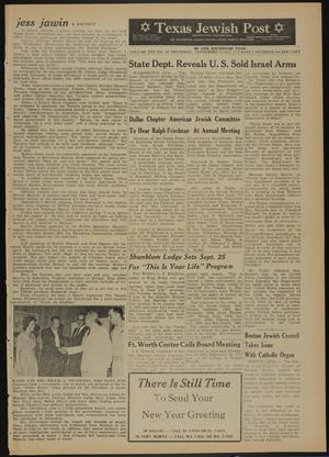 Primary view of object titled 'Texas Jewish Post (Fort Worth, Tex.), Vol. 16, No. 38, Ed. 1 Thursday, September 20, 1962'.