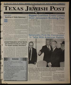 Primary view of object titled 'Texas Jewish Post (Fort Worth, Tex.), Vol. 51, No. 9, Ed. 1 Thursday, February 20, 1997'.