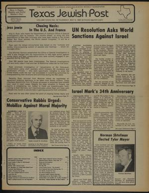 Primary view of object titled 'Texas Jewish Post (Fort Worth, Tex.), Vol. 36, No. 18, Ed. 1 Thursday, May 6, 1982'.