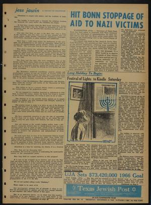 Primary view of object titled 'Texas Jewish Post (Fort Worth, Tex.), Vol. 19, No. 50, Ed. 1 Thursday, December 16, 1965'.