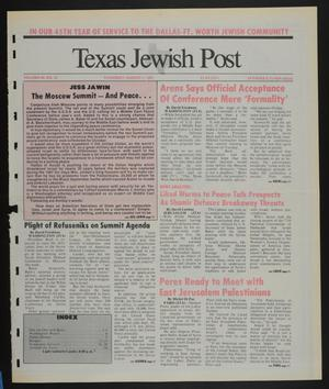 Primary view of object titled 'Texas Jewish Post (Fort Worth, Tex.), Vol. 45, No. 31, Ed. 1 Thursday, August 1, 1991'.