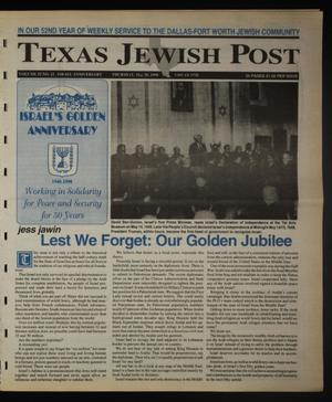 Primary view of object titled 'Texas Jewish Post (Fort Worth, Tex.), Vol. 52, No. 22, Ed. 1 Thursday, May 28, 1998'.