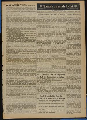 Primary view of object titled 'Texas Jewish Post (Fort Worth, Tex.), Vol. 15, No. 19, Ed. 1 Thursday, May 11, 1961'.