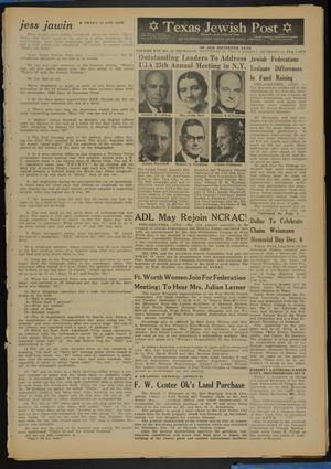 Primary view of object titled 'Texas Jewish Post (Fort Worth, Tex.), Vol. 16, No. 48, Ed. 1 Thursday, November 29, 1962'.