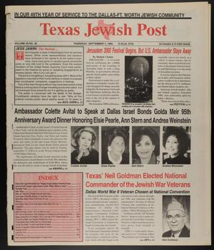 Primary view of object titled 'Texas Jewish Post (Fort Worth, Tex.), Vol. 49, No. 36, Ed. 1 Thursday, September 7, 1995'.