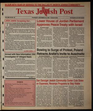 Primary view of object titled 'Texas Jewish Post (Fort Worth, Tex.), Vol. 48, No. 45, Ed. 1 Thursday, November 10, 1994'.