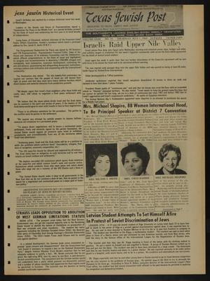 Primary view of object titled 'Texas Jewish Post (Fort Worth, Tex.), Vol. 23, No. 18, Ed. 1 Thursday, May 1, 1969'.