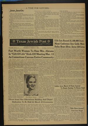 Primary view of object titled 'Texas Jewish Post (Fort Worth, Tex.), Vol. 11, No. 10, Ed. 1 Thursday, March 7, 1957'.