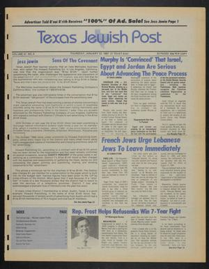 Primary view of object titled 'Texas Jewish Post (Fort Worth, Tex.), Vol. 41, No. 4, Ed. 1 Thursday, January 22, 1987'.