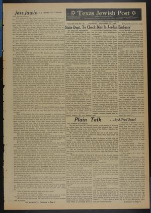 Primary view of object titled 'Texas Jewish Post (Fort Worth, Tex.), Vol. 13, No. 50, Ed. 1 Thursday, December 10, 1959'.