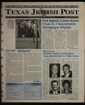 Primary view of object titled 'Texas Jewish Post (Fort Worth, Tex.), Vol. 53, No. 25, Ed. 1 Thursday, June 24, 1999'.