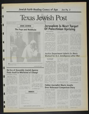 Primary view of object titled 'Texas Jewish Post (Fort Worth, Tex.), Vol. 42, No. 26, Ed. 1 Thursday, June 30, 1988'.