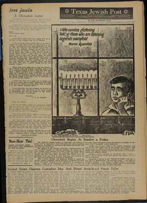 Primary view of object titled 'Texas Jewish Post (Fort Worth, Tex.), Vol. 16, No. 51, Ed. 1 Thursday, December 20, 1962'.
