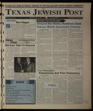 Primary view of object titled 'Texas Jewish Post (Fort Worth, Tex.), Vol. 51, No. 31, Ed. 1 Thursday, July 31, 1997'.