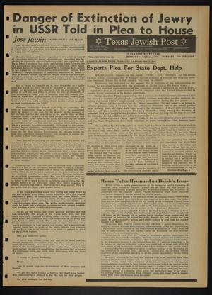 Primary view of object titled 'Texas Jewish Post (Fort Worth, Tex.), Vol. 19, No. 21, Ed. 1 Thursday, May 27, 1965'.