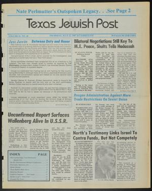 Primary view of object titled 'Texas Jewish Post (Fort Worth, Tex.), Vol. 41, No. 30, Ed. 1 Thursday, July 23, 1987'.