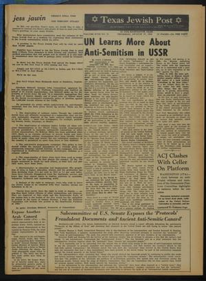 Primary view of object titled 'Texas Jewish Post (Fort Worth, Tex.), Vol. 18, No. 35, Ed. 1 Thursday, August 27, 1964'.