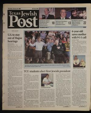 Primary view of object titled 'Texas Jewish Post (Fort Worth, Tex.), Vol. 58, No. 4, Ed. 1 Thursday, January 22, 2004'.