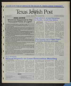 Primary view of object titled 'Texas Jewish Post (Fort Worth, Tex.), Vol. 46, No. 5, Ed. 1 Thursday, January 30, 1992'.