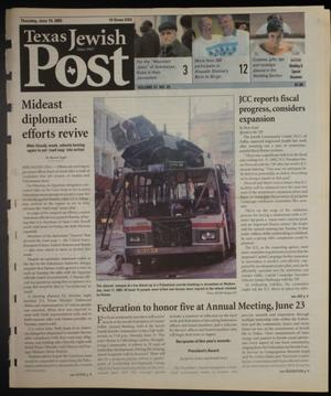Primary view of object titled 'Texas Jewish Post (Fort Worth, Tex.), Vol. 57, No. 25, Ed. 1 Thursday, June 19, 2003'.