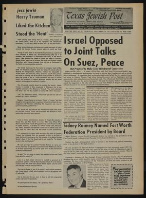 Primary view of object titled 'Texas Jewish Post (Fort Worth, Tex.), Vol. 26, No. 52, Ed. 1 Thursday, December 28, 1972'.