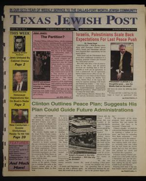 Primary view of object titled 'Texas Jewish Post (Fort Worth, Tex.), Vol. 51, No. 2, Ed. 1 Thursday, January 11, 2001'.