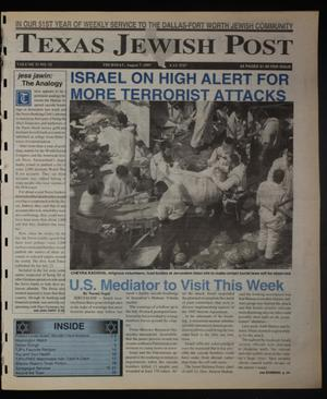 Primary view of object titled 'Texas Jewish Post (Fort Worth, Tex.), Vol. 51, No. 32, Ed. 1 Thursday, August 7, 1997'.