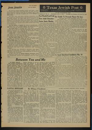 Primary view of object titled 'Texas Jewish Post (Fort Worth, Tex.), Vol. 14, No. 18, Ed. 1 Thursday, May 5, 1960'.