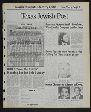 Primary view of object titled 'Texas Jewish Post (Fort Worth, Tex.), Vol. 43, No. 13, Ed. 1 Thursday, March 30, 1989'.