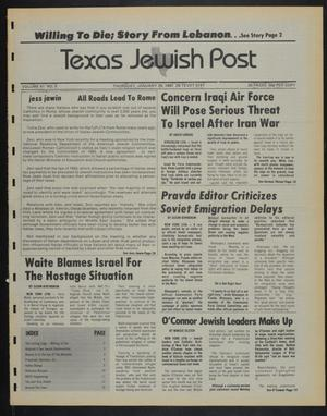 Primary view of object titled 'Texas Jewish Post (Fort Worth, Tex.), Vol. 41, No. 5, Ed. 1 Thursday, January 29, 1987'.