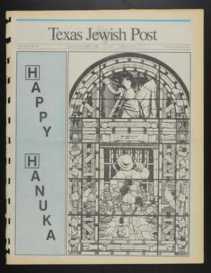 Primary view of object titled 'Texas Jewish Post (Fort Worth, Tex.), Vol. 42, No. 48, Ed. 1 Thursday, December 1, 1988'.