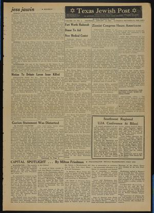 Primary view of object titled 'Texas Jewish Post (Fort Worth, Tex.), Vol. 15, No. 2, Ed. 1 Thursday, January 12, 1961'.