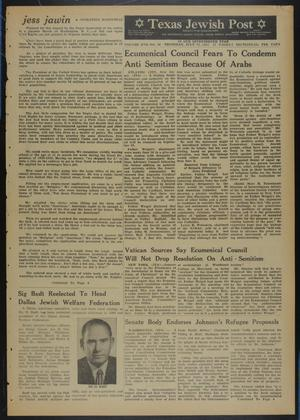 Primary view of object titled 'Texas Jewish Post (Fort Worth, Tex.), Vol. 17, No. 28, Ed. 1 Thursday, July 11, 1963'.