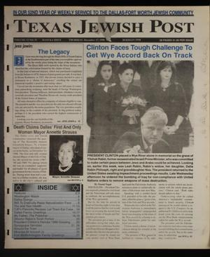 Primary view of object titled 'Texas Jewish Post (Fort Worth, Tex.), Vol. 52, No. 51, Ed. 1 Thursday, December 17, 1998'.