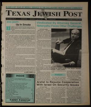 Primary view of object titled 'Texas Jewish Post (Fort Worth, Tex.), Vol. 51, No. 17, Ed. 1 Thursday, April 24, 1997'.