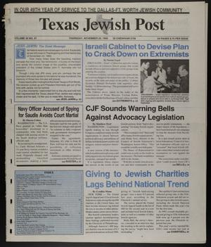 Primary view of object titled 'Texas Jewish Post (Fort Worth, Tex.), Vol. 49, No. 47, Ed. 1 Thursday, November 23, 1995'.