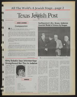 Primary view of object titled 'Texas Jewish Post (Fort Worth, Tex.), Vol. 42, No. 29, Ed. 1 Thursday, July 21, 1988'.