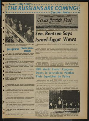 Primary view of object titled 'Texas Jewish Post (Fort Worth, Tex.), Vol. 26, No. 4, Ed. 1 Thursday, January 27, 1972'.