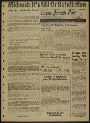 Primary view of object titled 'Texas Jewish Post (Fort Worth, Tex.), Vol. 20, No. 43, Ed. 1 Thursday, October 27, 1966'.