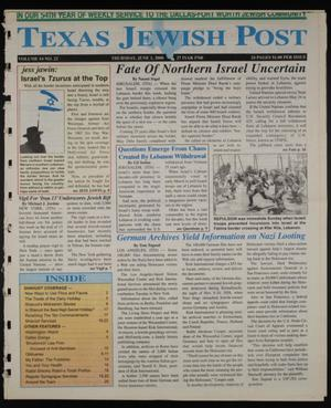 Primary view of object titled 'Texas Jewish Post (Fort Worth, Tex.), Vol. 54, No. 22, Ed. 1 Thursday, June 1, 2000'.
